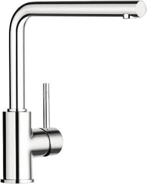 Смеситель кухонный однорычажный с высоким изливом формы L, хром Blanco MIDA L 519414
