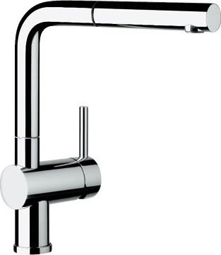 Смеситель кухонный однорычажный с высоким выдвижным изливом, рычаг управления справа, хром Blanco LINUS-S 512402