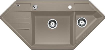 Кухонная мойка крыло слева, с клапаном-автоматом, гранит, серый беж Blanco LEXA 9 E 517343