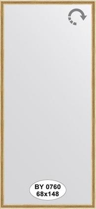 Зеркало 68x148см в багетной раме витое золото Evoform BY 0760