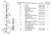 Смеситель однорычажный для раковины, хром Grohe LINEARE 32109000