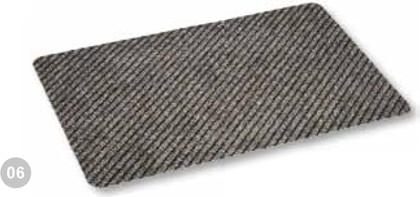 Коврик придверный 40x60см промежуточный коричневый, полипропилен Golze RIB LINE TREND 481-15-06