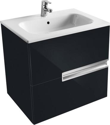 Тумба для умывальника подвесная чёрная, 58.6см Roca VICTORIA NORD Black Edition ZRU9000096