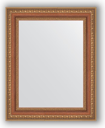 Зеркало в багетной раме 41x51см бронзовые бусы на дереве 60мм Evoform BY 3011