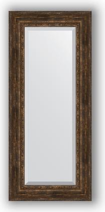 Зеркало с фацетом в багетной раме 62x142см состаренное дерево с орнаментом 120мм Evoform BY 3534