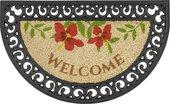 Коврик придверный 45х75см WELCOME цветы, кокос/резина Golze COCO RELIEF 547-30-14
