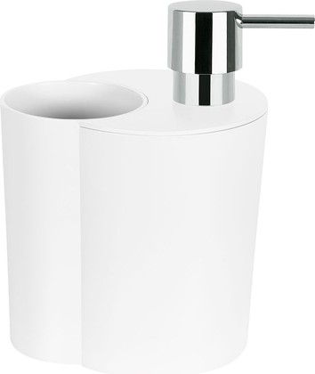 Набор: стакан и ёмкость для жидкого мыла, белый Spirella SUN&MOON 1018145