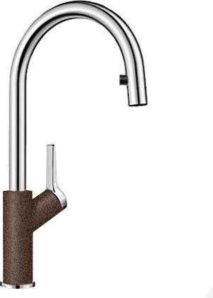 Смеситель кухонный однорычажный с высоким выдвижным изливом, кофе Blanco CARENA-S 520988