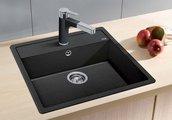 Кухонная мойка без крыла, с клапаном-автоматом, гранит, жасмин Blanco DALAGO 6 514592