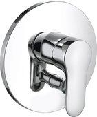 Смеситель для ванны и душа встраиваемый однорычажный без излива, хром Kludi OBJEKTA 326500575