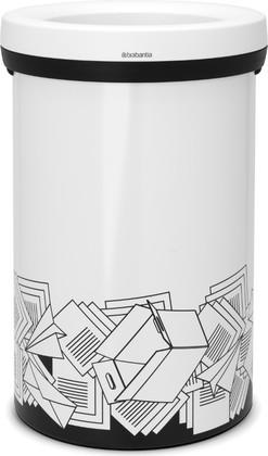 Мусорный бак с открытым верхом 60л белый с рисунком Brabantia OPEN TOP 401961
