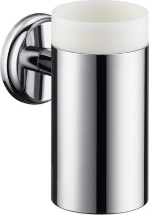 Стакан керамический с настенным держателем, хром Hansgrohe Logis Classic 41618000