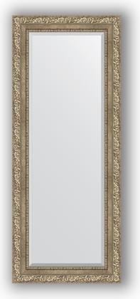 Зеркало с фацетом в багетной раме 55x135см виньетка античное серебро 85мм Evoform BY 3513