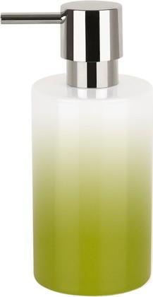 Ёмкость для жидкого мыла фарфоровая зелёная Spirella TUBE GRADIENT 1017961