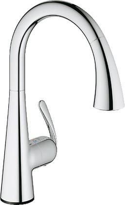 Сенсорный однорычажный кухонный смеситель, хром Grohe ZEDRA Touch 30219000