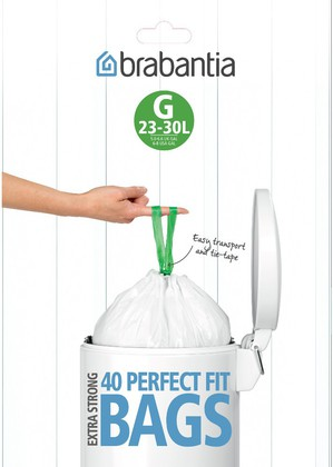 Пакет для мусора 23/30л пластиковый, размер G, 40шт Brabantia 375668