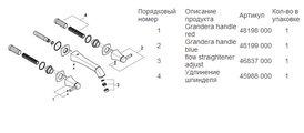 Смеситель вентильный для раковины на 3 отверстия настенный встраиваемый без встраиваемого механизма, хром Grohe GRANDERA 20415000