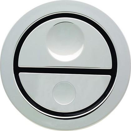 Пневмокнопка управления двойным смывом унитаза, для установки в мебель, глянцевый хром Geberit 115.999.21.1