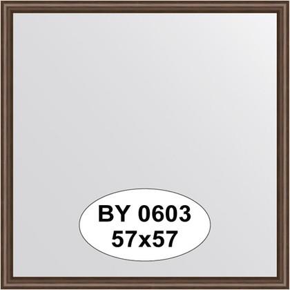 Зеркало 57x57см в багетной раме орех Evoform BY 0603