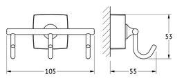 Крючки, моноблок тройной хром FBS ESP 003