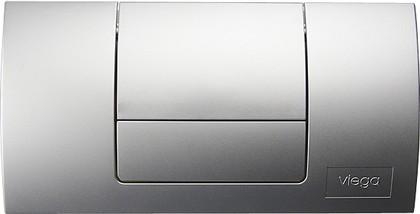 Кнопка смыва для инсталляции для унитаза пластиковая, матовый хром Viega Standard 1 449032