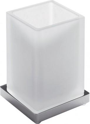 Стакан настольный из матового стекла с подставкой, хром Colombo LOOK B1641.000