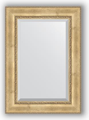 Зеркало с фацетом в багетной раме 72x102см состаренное серебро с орнаментом 120мм Evoform BY 3454