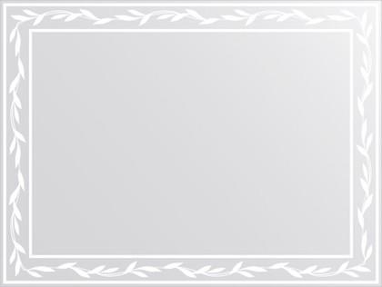 Зеркало для ванной с орнаментом 80x60см FBS CZ 0721