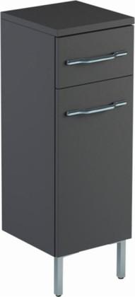 Шкаф средний 60см напольный, 1 ящик, корзина 30х32х88см Verona Area+ AA411