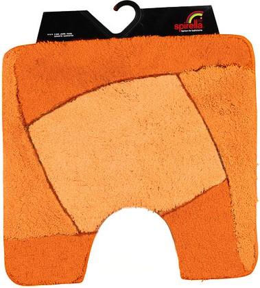 Коврик для туалета 55x55см оранжевый Spirella FOCUS 1014193