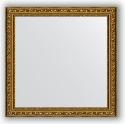 Зеркало в багетной раме 64x64см виньетка состаренное золото 56мм Evoform BY 3135
