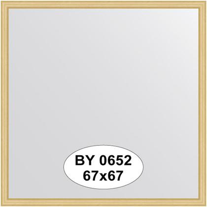Зеркало 67x67см в багетной раме сосна Evoform BY 0652