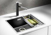 Кухонная мойка, гранит антрацит / нержавеющая сталь, Blanco SUBLINE 500-IF SteelFrame 521015