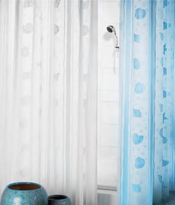 Штора для ванны 180x200см голубая Spirella DEAUVILLE 1042927