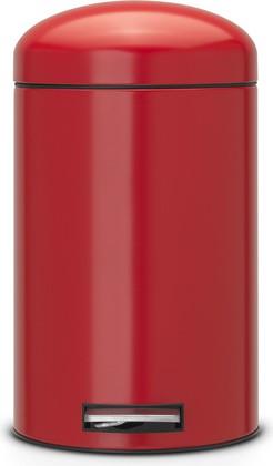 Мусорный бак 12л с педалью, MotionControl, красный Brabantia RETRO 483783