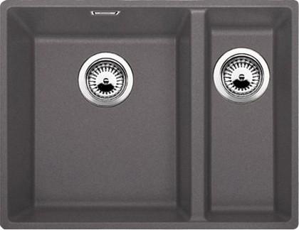 Кухонная мойка без крыла, с клапаном-автоматом, гранит, тёмная скала Blanco SUBLINE 340/160-F 519803