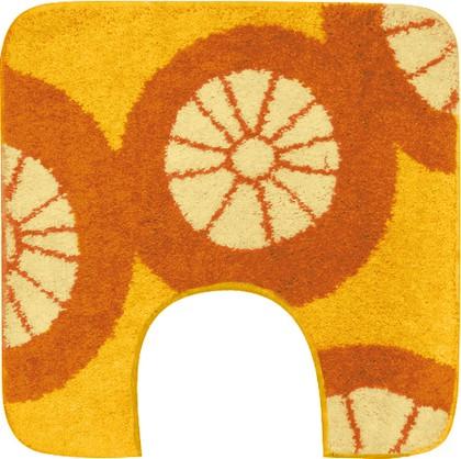 Коврик с вырезом под туалет 50x60см оранжевый Grund CITRUS WC 2178.04.086
