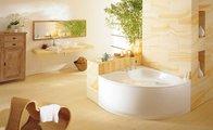 Ванна стальная угловая 140x140см с полистироловой подушкой и панелью, Perl-Effekt Kaldewei PUNTA DUO 3 910-3 2283.4803.3001