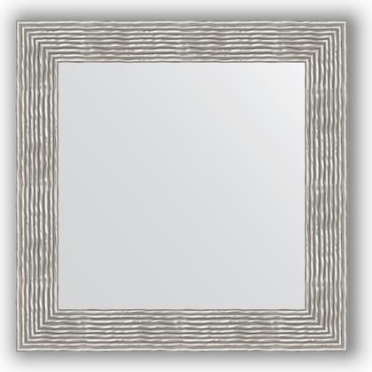 Зеркало в багетной раме 70x70см волна хром 90мм Evoform BY 3153