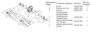 Смеситель встраиваемый однорычажный для душа без подключения шланга и без встраиваемого механизма, хром Grohe ATRIO 19463001