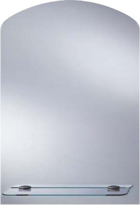 Зеркало 44x63см прямоугольное с дугообразным верхом и стеклянной полочкой Dubiel Vitrum TOALETKA II 5905241903507