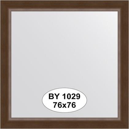 Зеркало 76x76см в багетной раме орех Evoform BY 1029