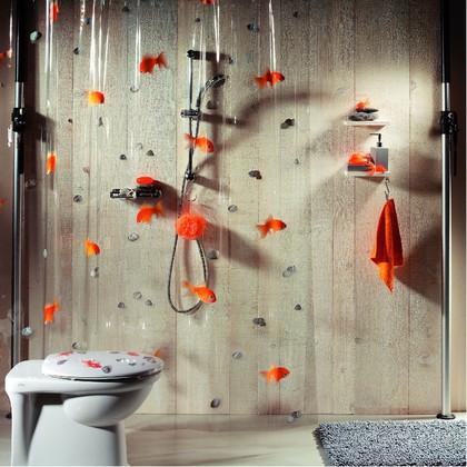 Штора для ванны 180x200см оранжевая Spirella GOLDFISH 1000097