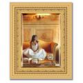 Зеркало 45x55см с фацетом 30мм в багетной раме сусальное золото Evoform BY 1366