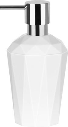 Ёмкость для жидкого мыла пластиковая белая Spirella CRYSTAL 1018126