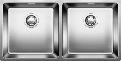 Кухонная мойка без крыла, с клапаном-автоматом, нержавеющая сталь зеркальной полировки Blanco ANDANO 400/400-U 518326