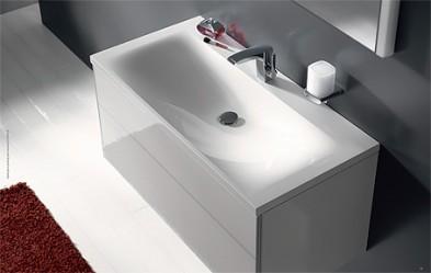 Комплект из умывальника и тумбочки под умывальник с ящиками 800х490мм, белый глянец Keuco ROYAL REFLEX 34060210000 34060000000