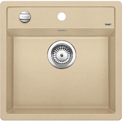 Кухонная мойка без крыла, с клапаном-автоматом, гранит, шампань Blanco DALAGO 5 518526