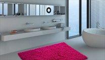 Коврик для ванной 60x90см малиновый Grund NEO 2581.14.7260