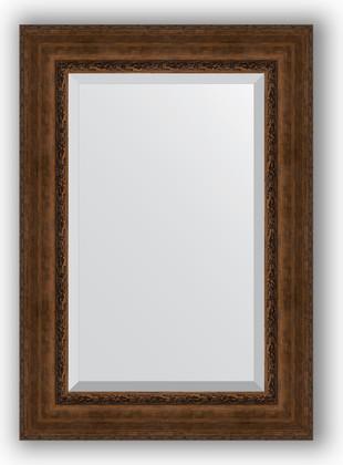 Зеркало с фацетом в багетной раме 72x102см состаренная бронза с орнаментом 120мм Evoform BY 3455